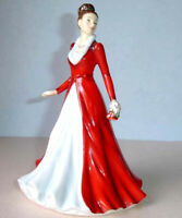 Royal Doulton Jingle Bells Petite Figurine Songs of Christmas Pretty Ladies 5699