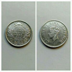 1938 b British India 1 Rupee w Dot Mintmark • 91.7% Silver Crown • XF-AU