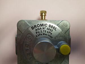 "Bromic 986L LPG Commercial Appliance Regulator 3/4""  w/ Test Point"