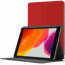 iPad 10.2 Case Stand, Apple iPad 10.2 2019 Cover 7th Generation - Red + Stylus