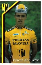 CYCLISME carte cycliste PASCAL KOHLVETER équipe PUERTAS MAVISA
