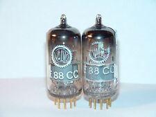 Matched Pair Valvo Siemens E88CC 6922 Vacuum Tubes Strong Balanced