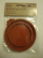**Silicone Multi Can Cover (Red)- Pet food can covers-Dog/Cat - Dual Sizing-New