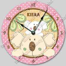 Wall Clock TROPICAL PUNCH Personalized Nursery Toddler BABY Decor - 8010_FT