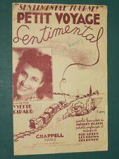 "Partition Chant ""Petit voyage sentimental"" GREEN BROWN BEN HOMER PLANTE"