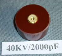 High voltage doorknob red T3M ceramic capacitor 40KV/2000pF tesla arrestor TDK