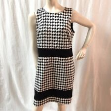 MICHAEL KORS Women's Size 16 Ponzano Black & White Houndstooth Career Work Dress