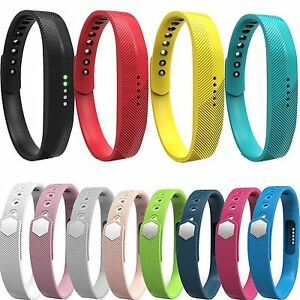 Hot Silikon Armband Uhrenarmband Band mit Clasp Für Fitbit Flex 2  Smart Uhr S&L