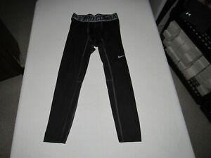 "Nike Pro Combat Men's Black Compression Base Layer Pants Size XL Waist 32""-34"""