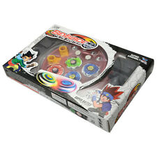 Beyblade Metal Rare Fusion Masters Top Fight 4D Launcher Set w/ Plate for Childs