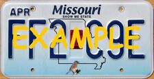 HO 1:87 MONSTER LICENSE PLATES UP 1997+ MISSOURI MO-2018 VEHICLE CARS TRUCKS