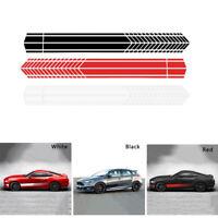 Universal Sports Racing Stripe Stickers Car Body Side Door Vinyl Decals Black B