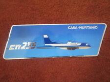 AUTOCOLLANT STICKER AUFKLEBER CASA NURTANIO CN-235 AVION AIRCRAFT FLUGZEUG