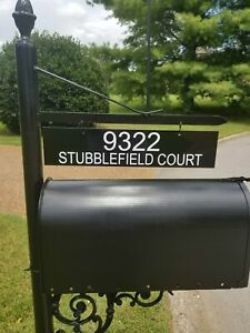 Custom/Personalized Metal Mailbox Number/Address Plate