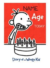PERSONALIZADO Chidlrens Tarjeta Cumpleaños Diary of A Wimpy Kid Añade