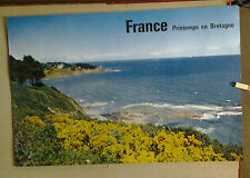 AFFICHE ANCIENNE PHOTO BOULAS DRAEGER PRINTEMPS EN BRETAGNE
