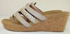 Catherines GOOD SOLES Khaki Cork WEDGE SANDALS - Womens SIze 9W
