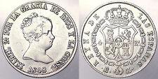 4 REALES 1848 ISABELLA II SPAGNA SPAIN ARGENTO SILVER #5848