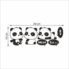 3xBlack Panda Light Switch Sticker Wall Decal PVC Removable Art Mural Room Decor