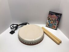 Taiko Drum Master (Sony PlayStation 2, 2004) Complete W/ Drumsticks, Tested