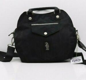 Sac Refrigue Vintage D'Occassion (Cod.DPS2059) Tissu Noir Femme