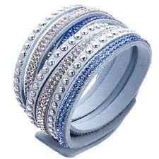 Crystal Cuff  Rhinestone Slake Stud LightBlue Bracelet Swarovski Element