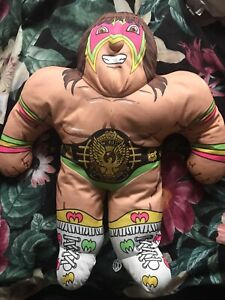 Vintage 1990s Tonka Ultimate Warrior WWF Wrestling Buddies Pillow Plush Toy