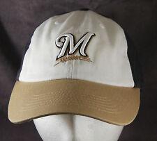 Milwaukee Brewers MLB Navy Tan White Baseball Cap Hat NEW