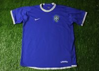 BRAZIL NATIONAL TEAM 2006/2007 FOOTBALL SHIRT JERSEY AWAY NIKE ORIGINAL SIZE XL