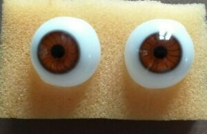 LAUSCHA GLASS HAND BLOWN  DOLL EYES IN BROWN VARIETY OF SIZES