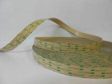 1x 3M SJ 4570 Dual Lock dünner Druckverschluss Klettband transparent 25,4mm x 1m