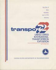 #U565 8c Transpo 72 Embossed Envelope First Day Ceremony  Program