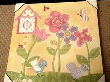 Circo canvas wall art work girl pink purple happy flower ladybug picture e