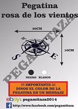 Pegatina Rosa de los Vientos Sticker Vinilo Adhesivo coche moto aventura, 4x4