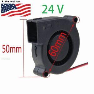 24V DC 50mm Blower Cooling Fan 5015 Hotend Extruder For RepRap 3D Printer 2Pin
