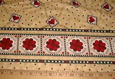 DEBBIE MUMM Fabric - DECADE OF DESIGN - DOUBLE Border on Tan - BTHY