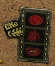 D9  VINTAGE PIN MOVIE ACTOR  HOLLYWOOD CAMERA CLIO STRIPE OLD