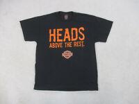VINTAGE Harley Davidson Shirt Adult Large Black Heads Above The Rest Motorcycle*
