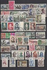 1957 - Année complète oblitérés  (07-110.14)