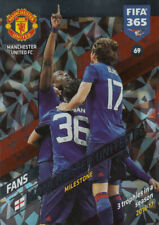 Panini Adrenalyn XL FIFA 365 2018 #69 Manchester United FC Milestone