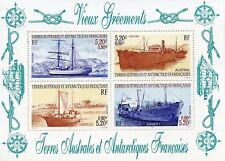 TIMBRE T.A.A.F. TERRES AUSTRALES NEUF BLOC N° 6 ** VIEUX GREMENTS  COTE 16 €