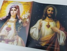 Sacred Heart of Jesus Immaculate Heart of Mary Plastic Folder Religious Catholic