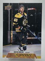 David Krejci #C7 Canvas 2020-21 Upper Deck Series 1 UD Boston Bruins