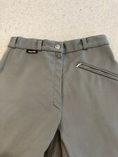 Euro-star, Full Seat Winter Breeches. 24-26. Greenish Gray. Real Leather.