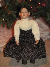 "Vintage 22"" Tall Claudia Folk-Americana Porcelain And Cloth Body Doll"