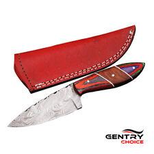 Handmade Damascus Skinner Short Knife – AMK005