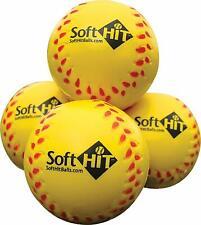 Soft HIT Baseball Softball Foam Training Ball Batting Practice- 12 Pack YELLOW
