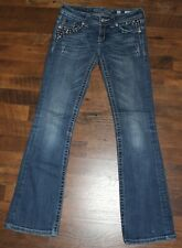 Women's MISS ME Boot Jeans Size 25 Inseam 31 Embellished Bling Flap JP5141BR
