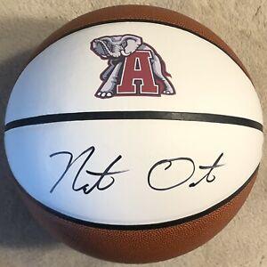 Nate Oates Signed Autographed Alabama Crimson Tide Logo Basketball PSA/DNA