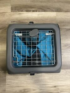 Dog Crate Kennel Portable Collapsible Folding Pet Travel Pop Up Cage Teal